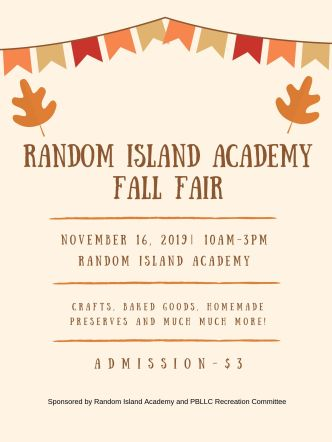 Random Island Academy Fall Fair